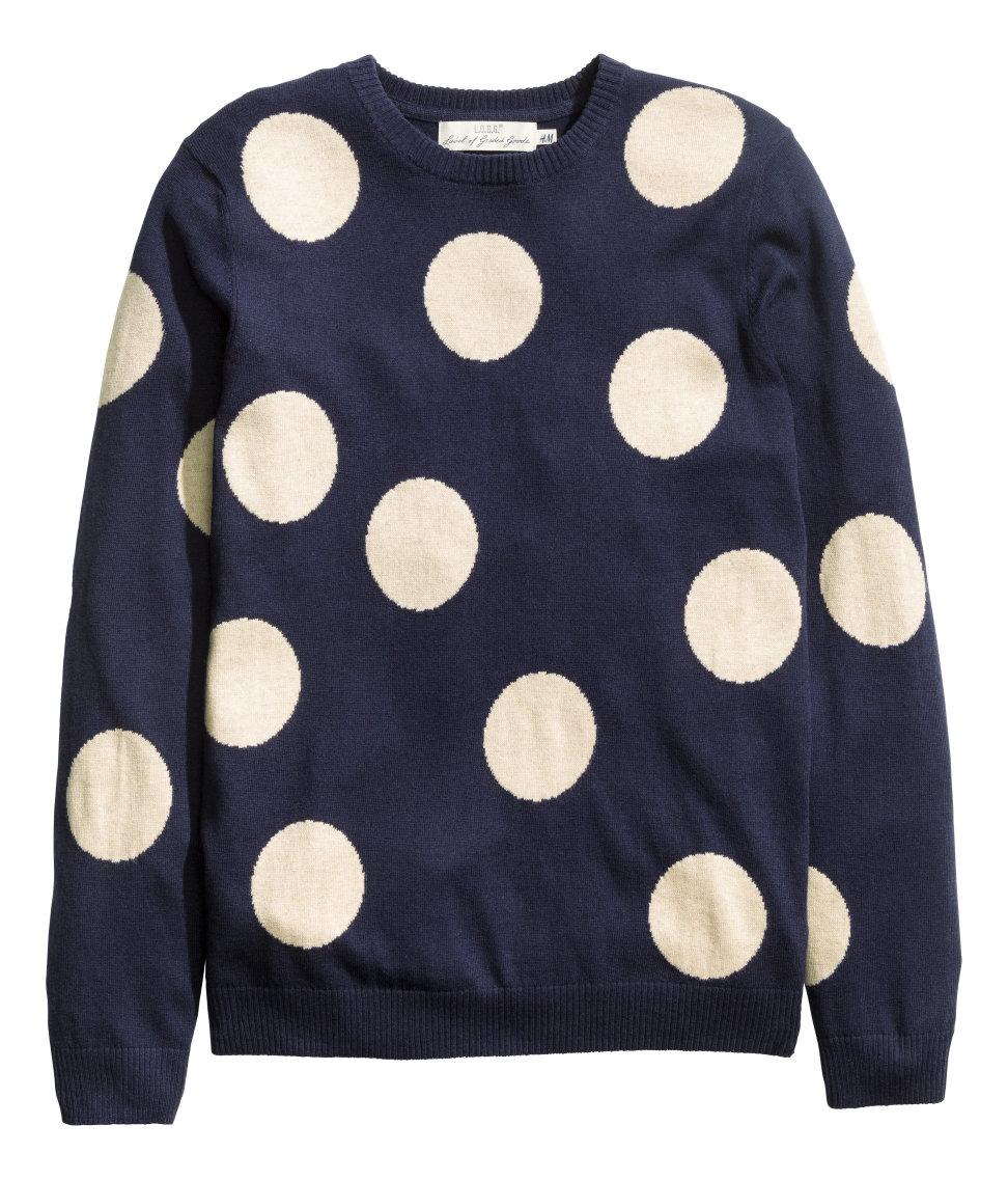 Hm Fine Knit Jumper In Blue For Men Lyst