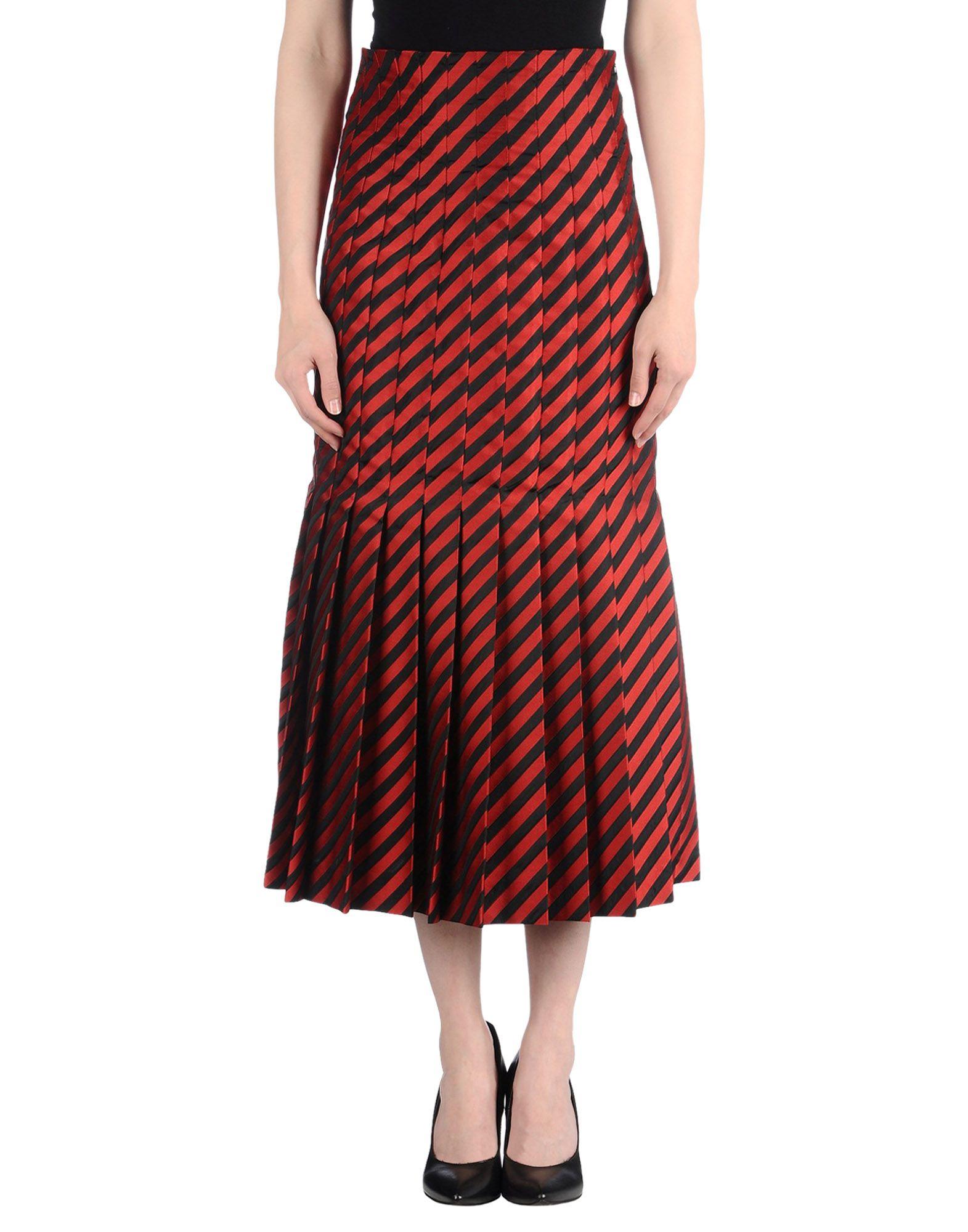 Miu Miu | Red Long Skirt | Lyst
