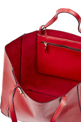 Topshop Large Tote Bag in Red | Lyst