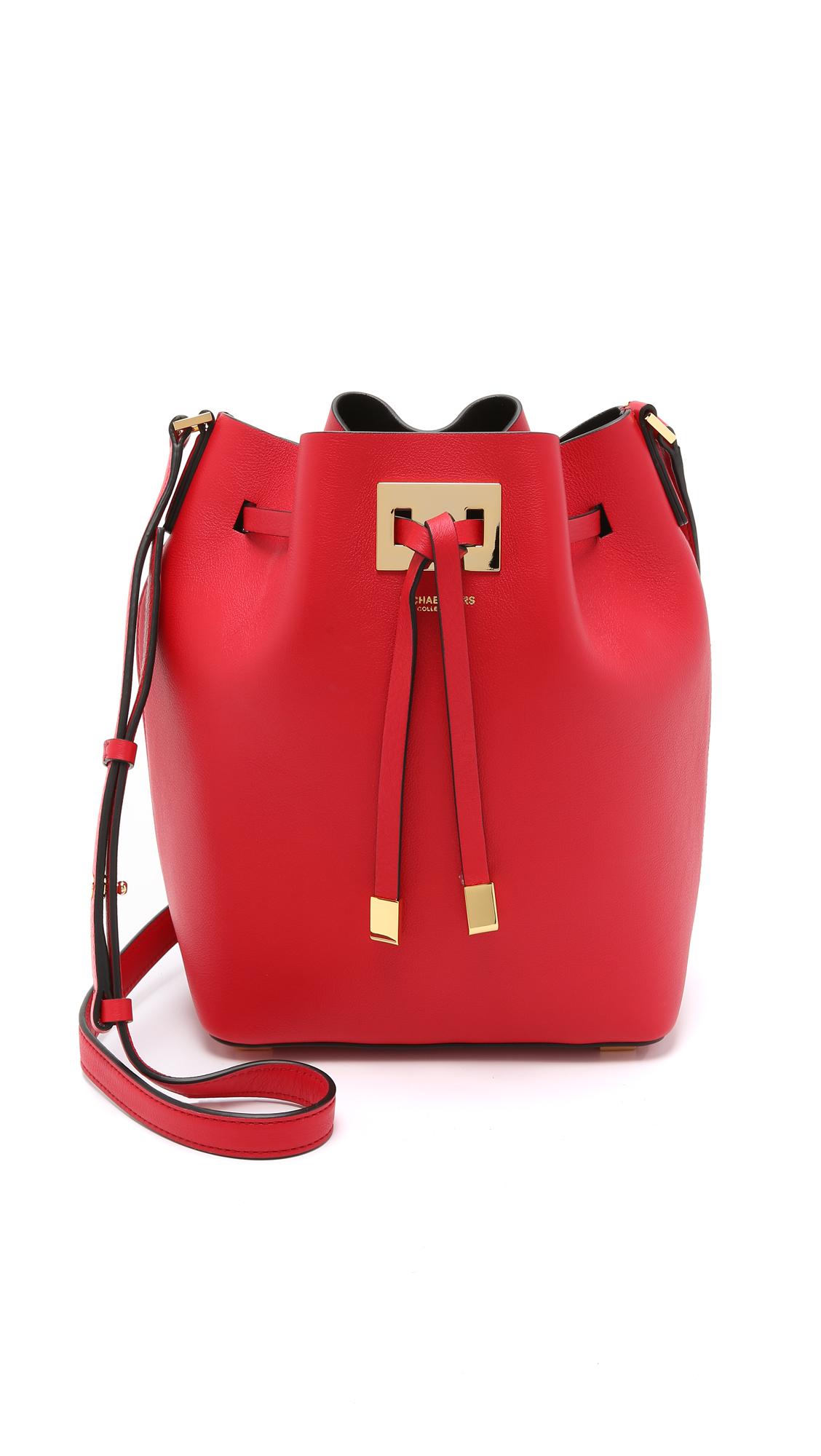724f304a9ce2 Michael Kors Miranda Medium Drawstring Bag - Crimson in Red - Lyst