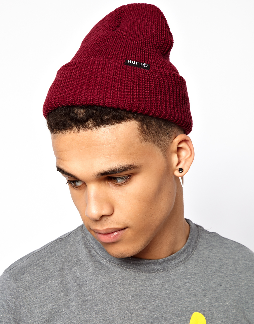 Lyst - Huf Usual Fisherman Beanie Hat in Red for Men a0f1cf4f62f