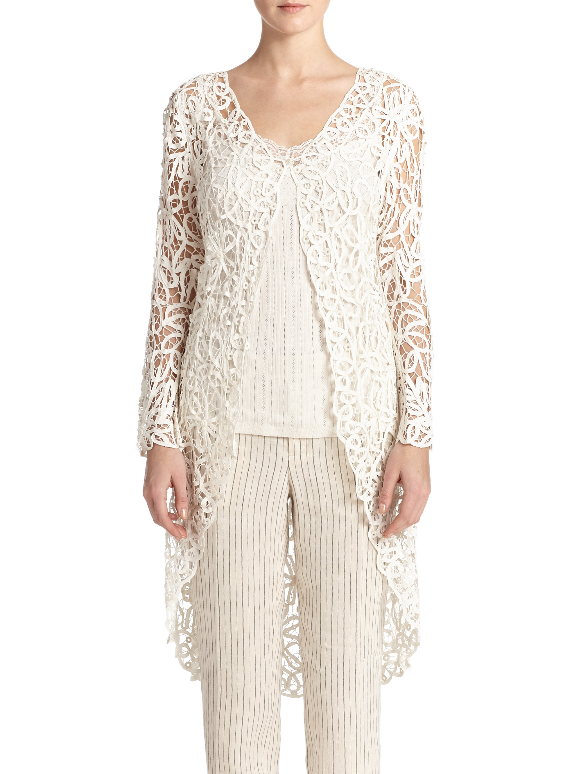 Lyst Polo Ralph Lauren Lace Duster In White