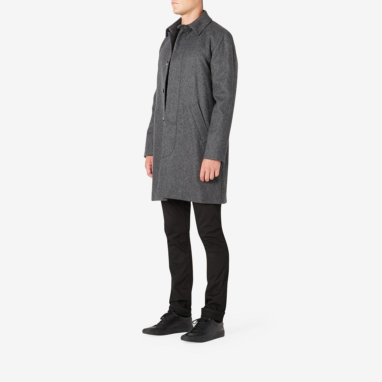 Cuff Fleece Noir Gris Chine