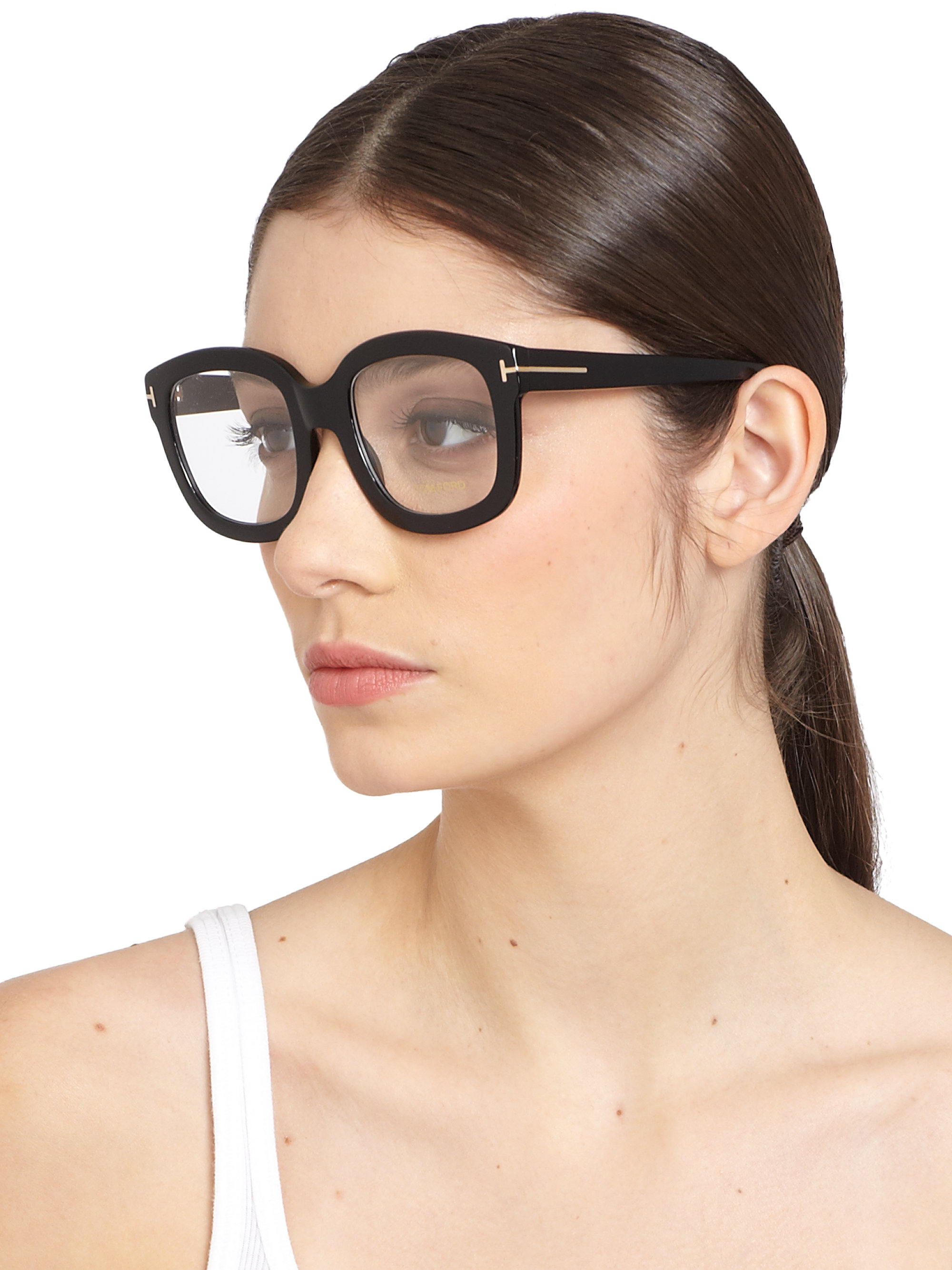 Lyst Tom Ford Oversized Acetate Eye Glasses In Black