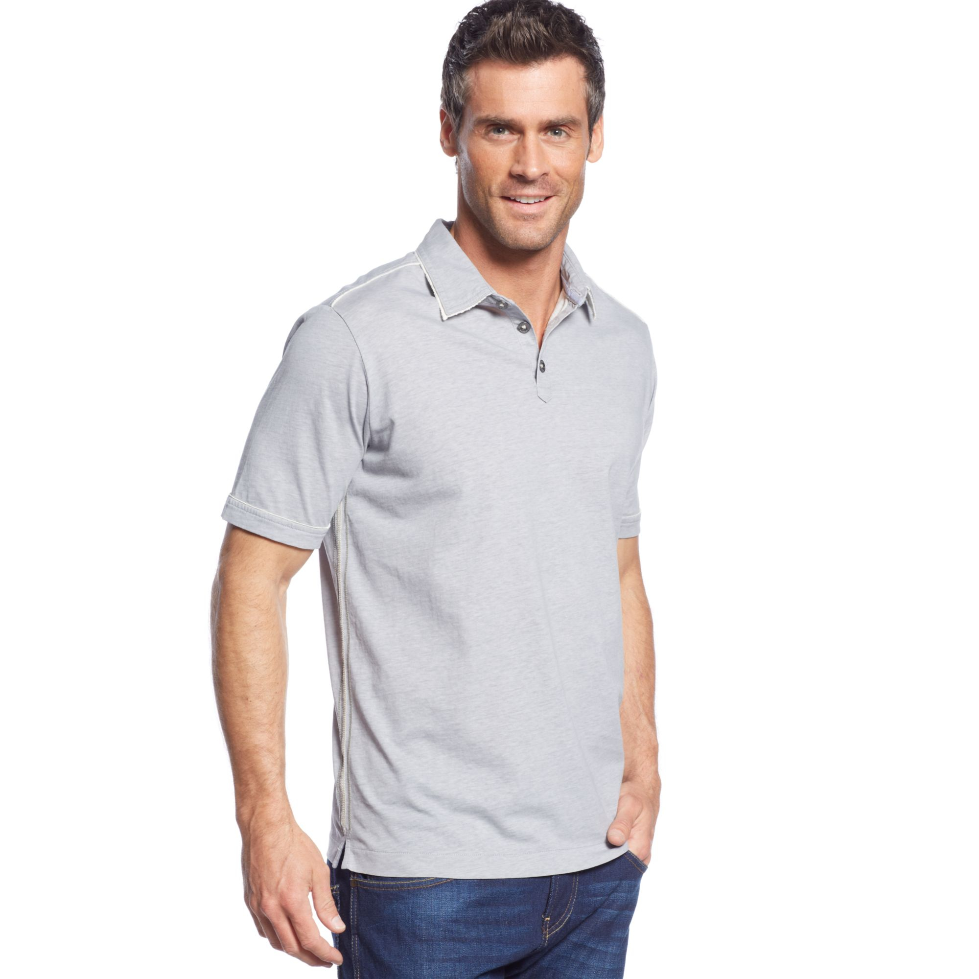 Tommy bahama new fray day polo shirt in black for men lyst for Tommy bahama polo shirts on sale