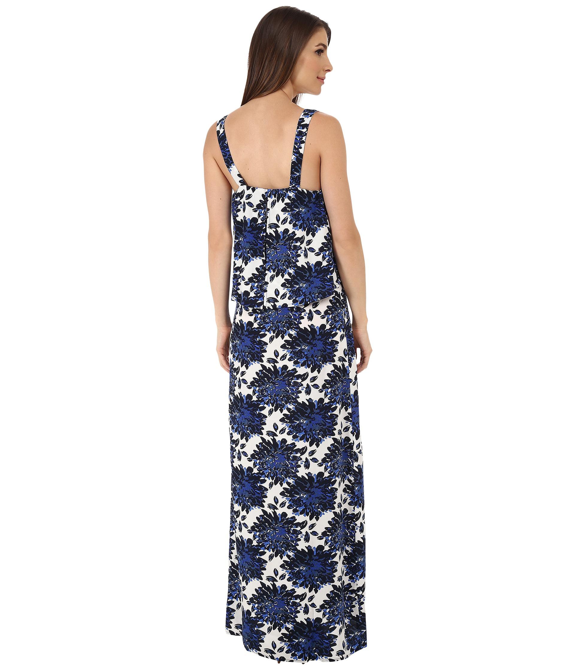 Splendid Mediterranean Blossom Maxi Dress In Blue