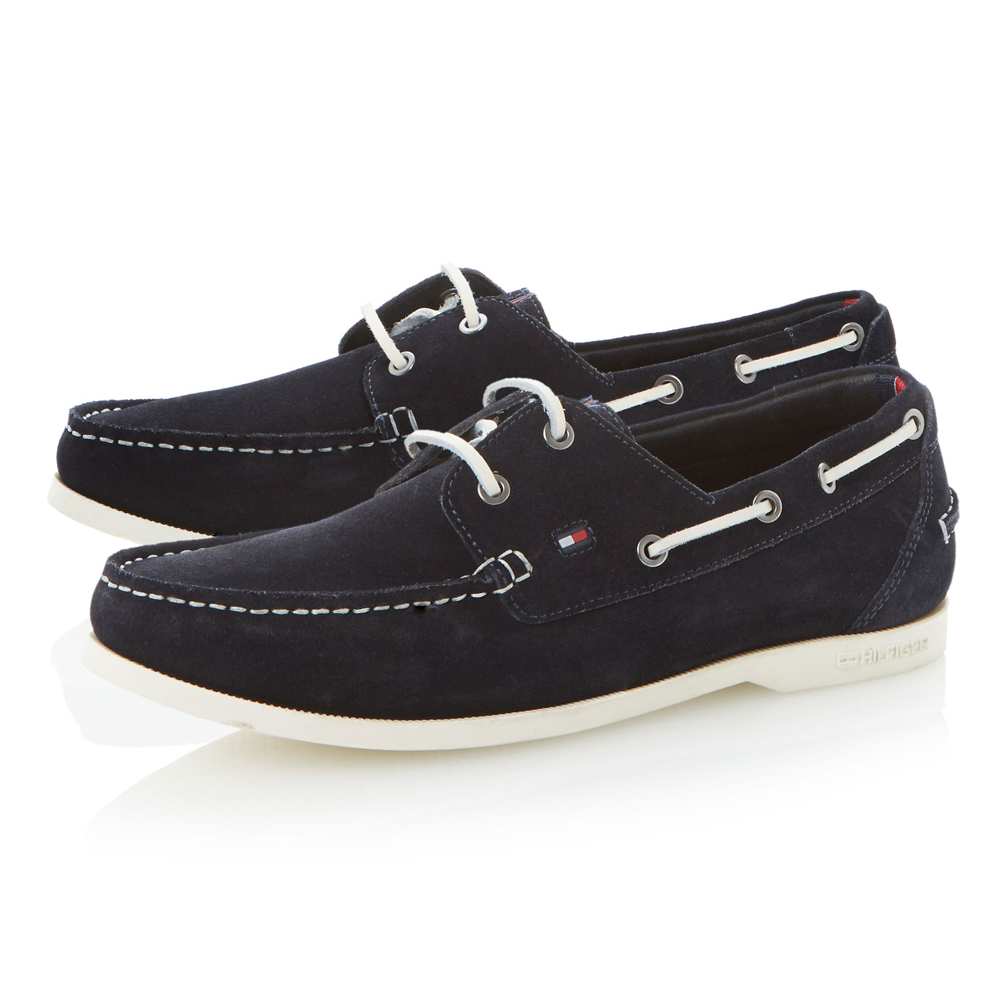 Tommy hilfiger Chino 9b Lace Up White Sole Boat Shoes in