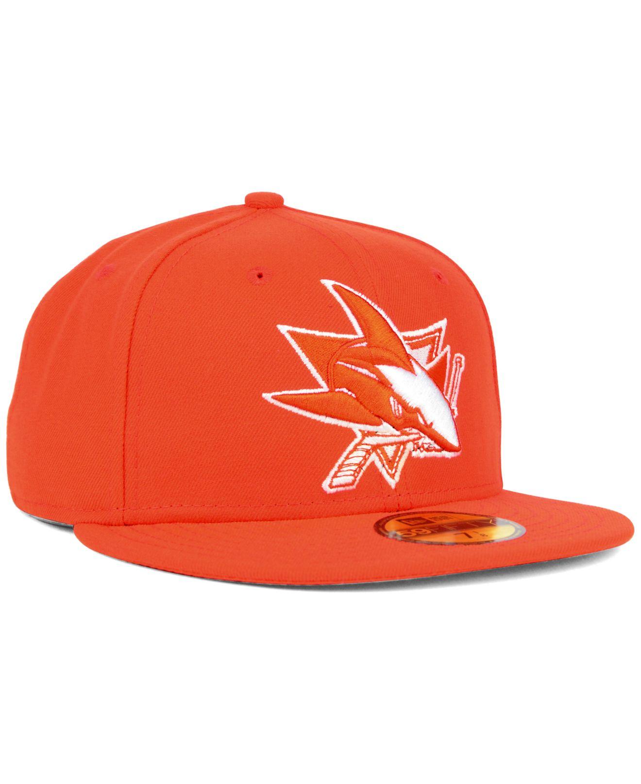 new concept ff089 08ef4 KTZ San Jose Sharks C-dub 59fifty Cap in Orange for Men - Lyst