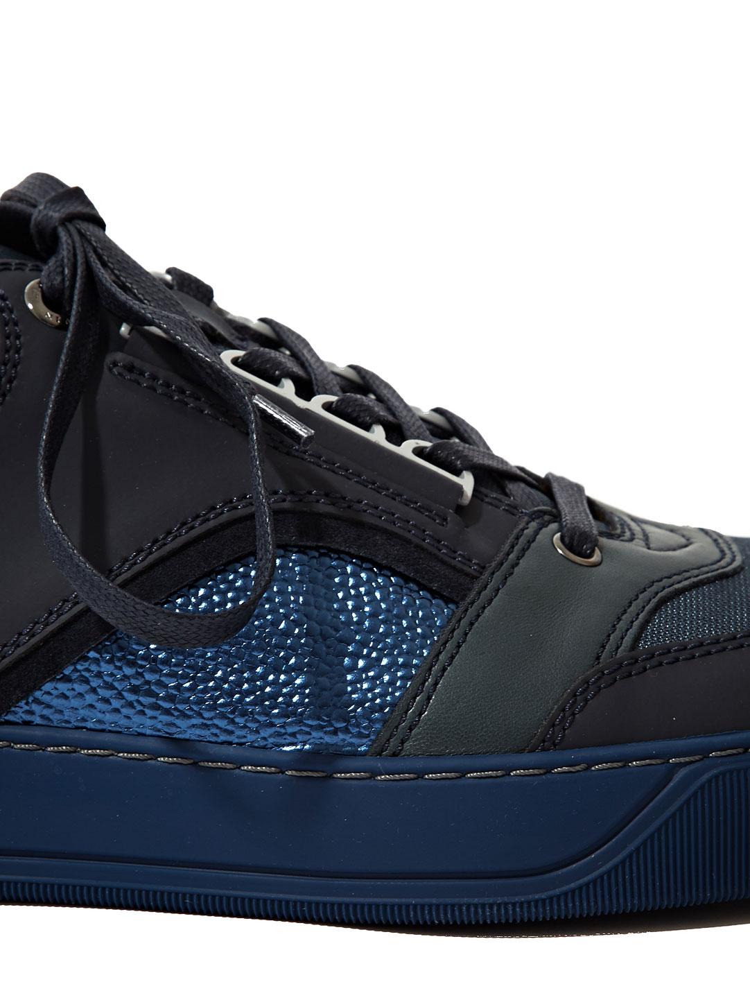 Lyst Lanvin Mens Sneakers Low In Blue For Men