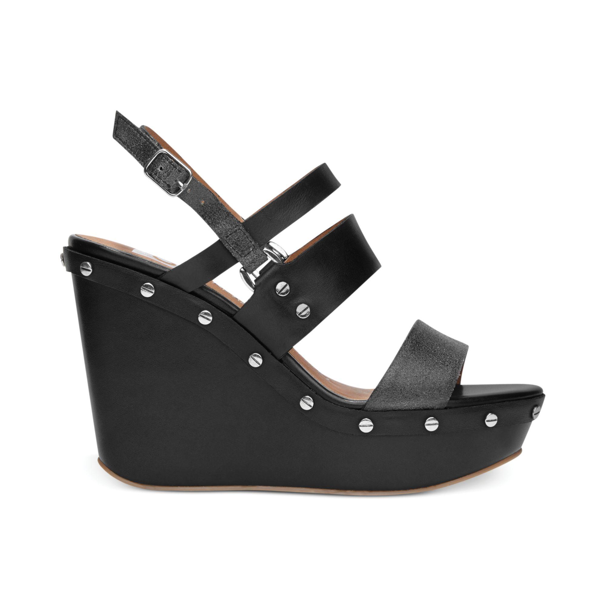 dolce vita dv by noleta platform wedge sandals in black lyst