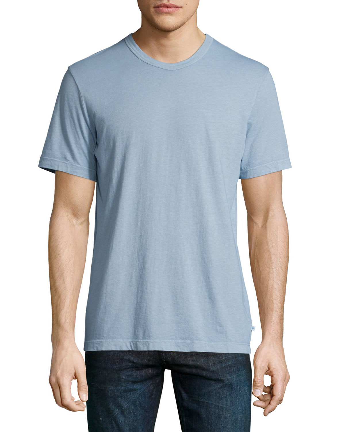 d5f84f65e17 James Perse Crew-Neck Cotton T-Shirt in Blue for Men - Lyst
