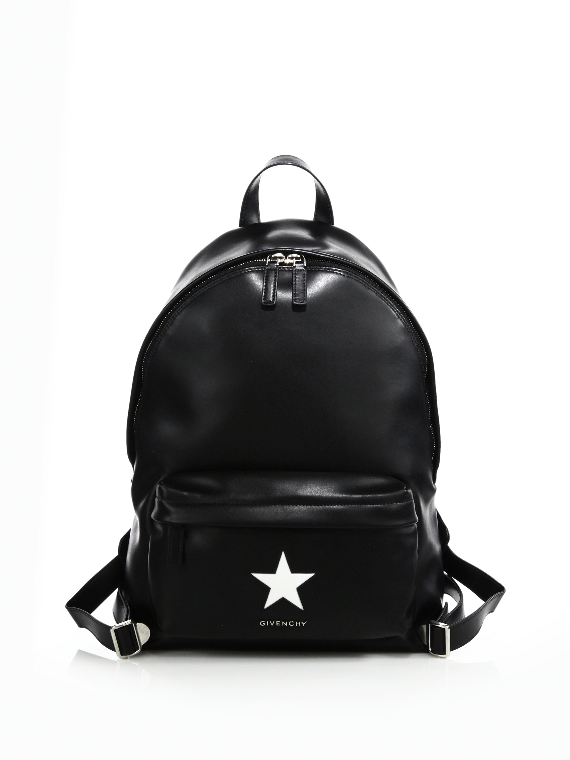 Black leather backpack with logo print Givenchy cSFl7