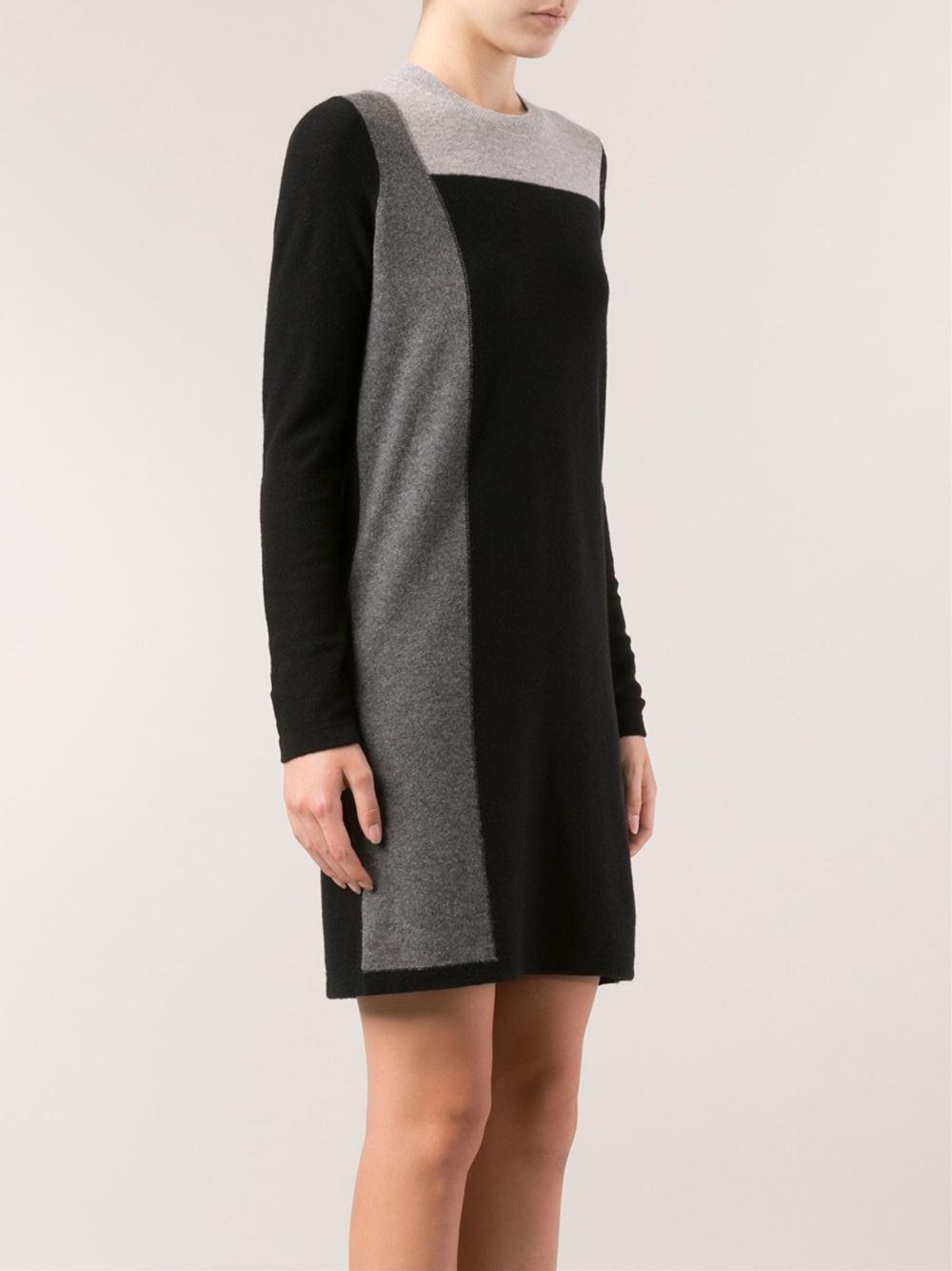 Vince color block sweater dress