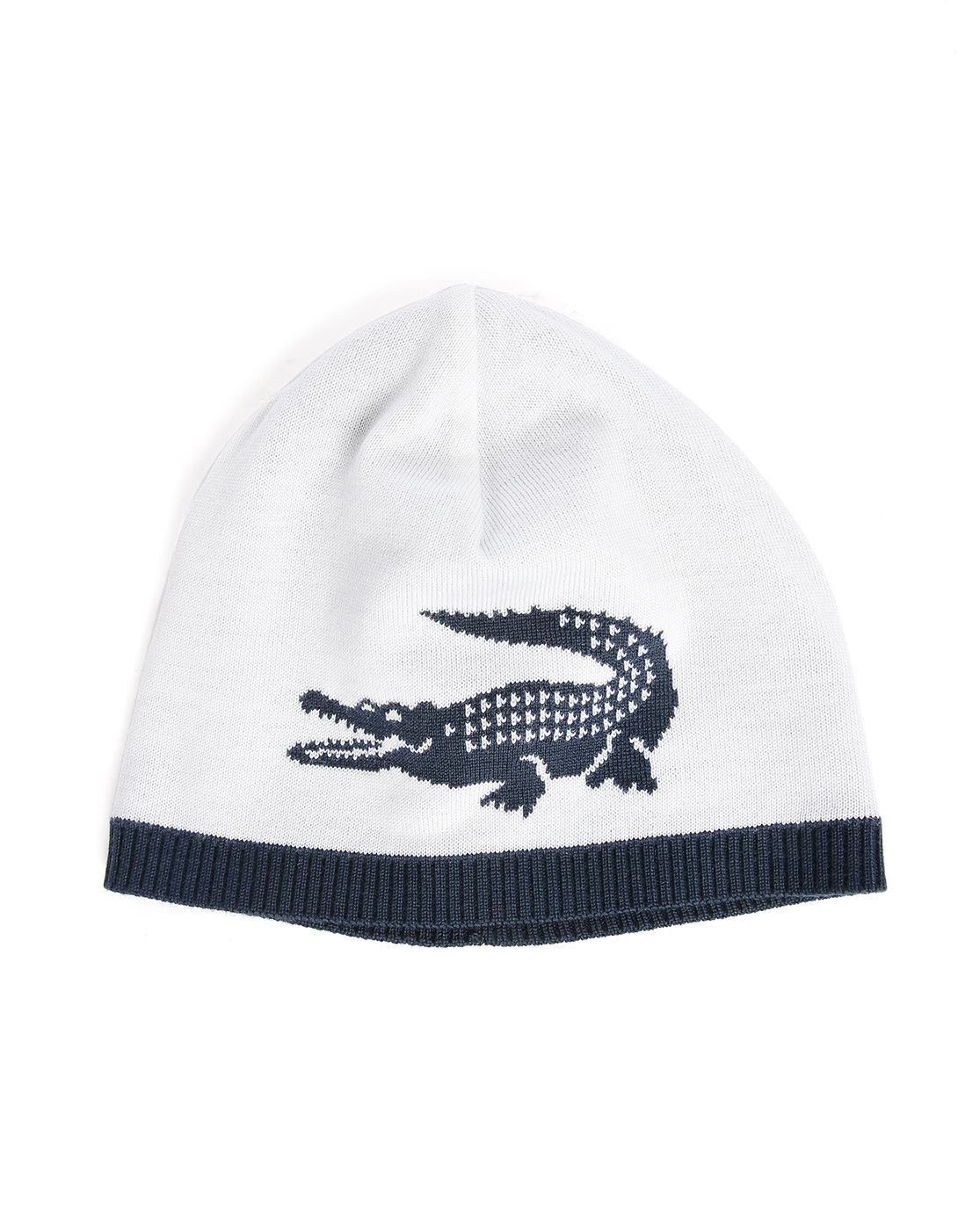 lacoste navy beige reversible hat with crocodile logo in