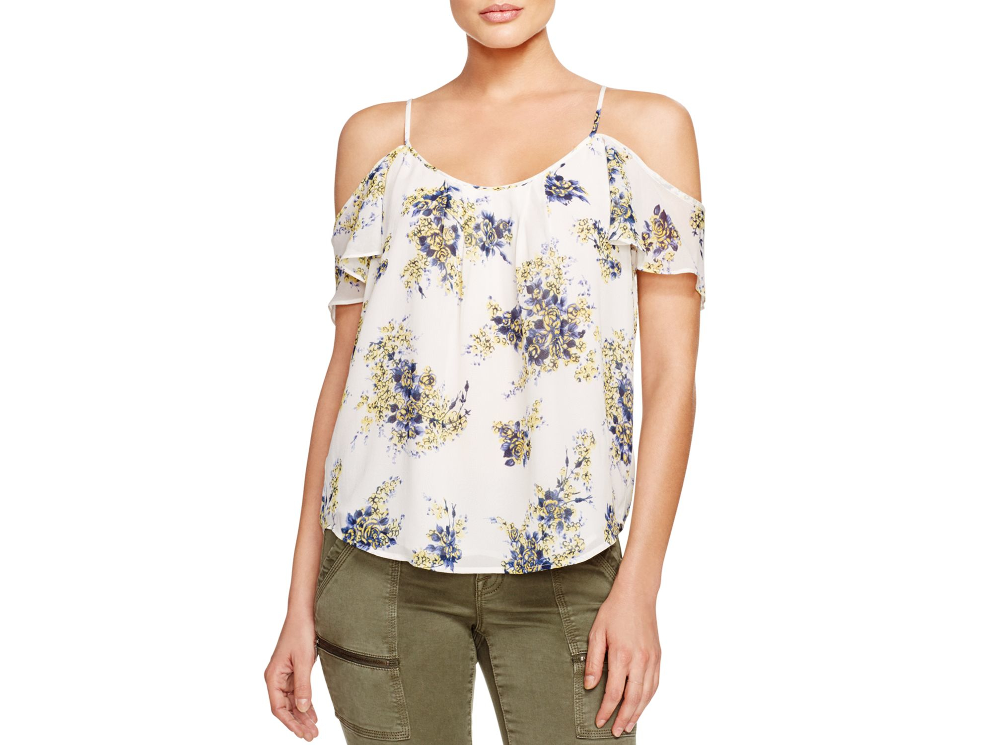 3b392fdfb77db Lyst - Joie Adorlee B Floral Top in White