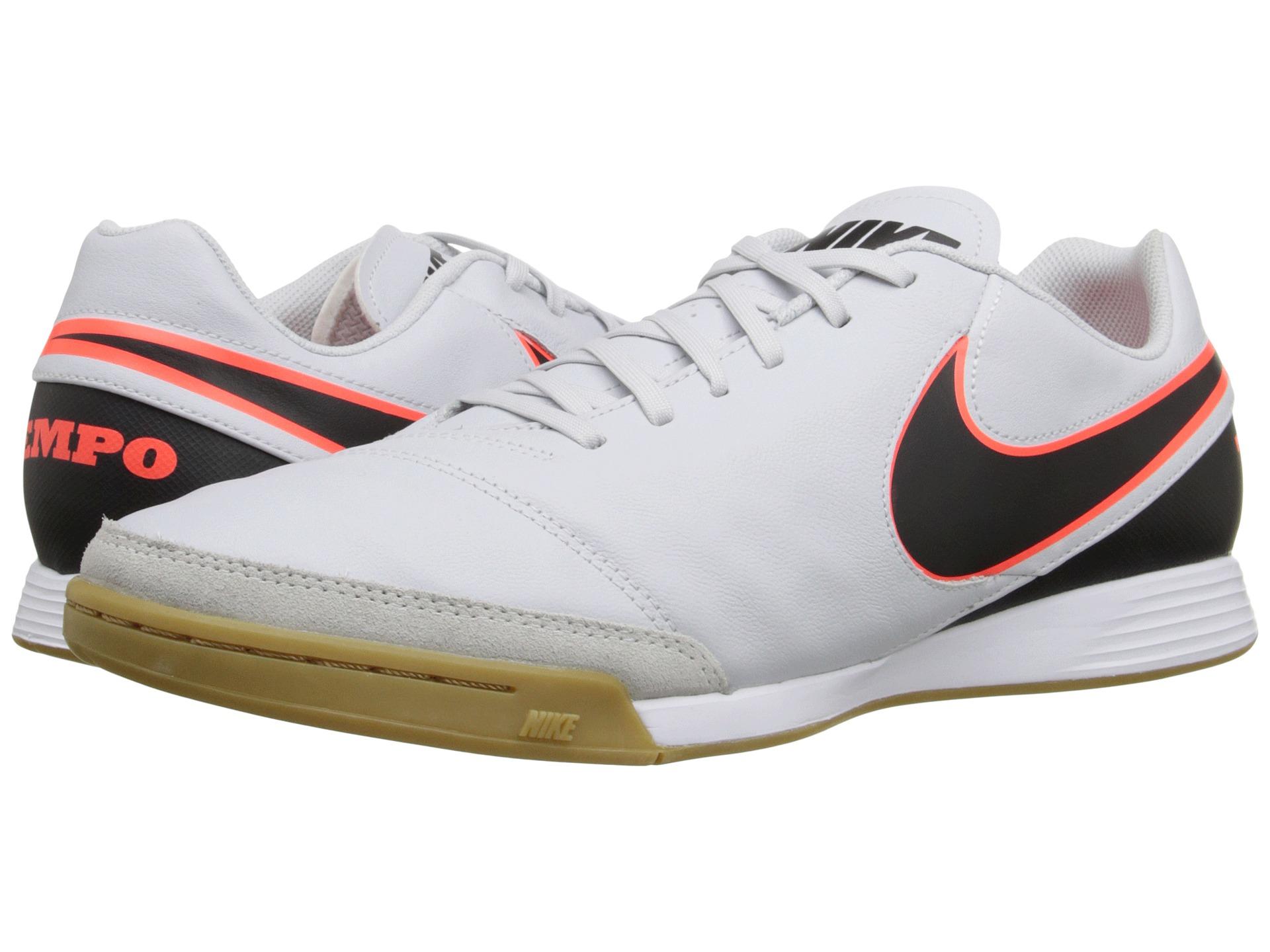 9798395ab4691 Nike Tiempo Genio Ii Leather Ic in Black (Pure Platinum Black Hyper Orange)
