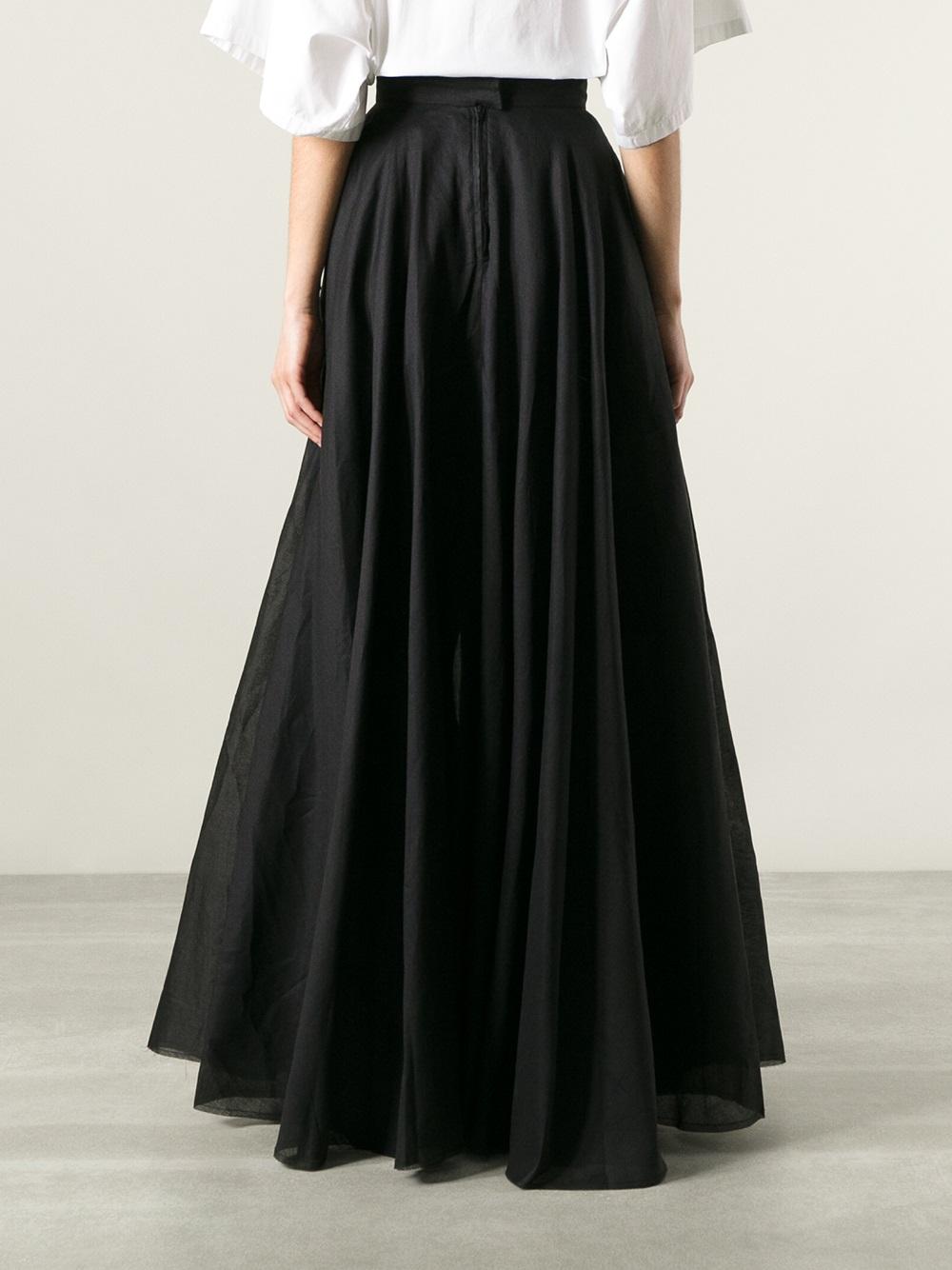 Lyst Yang Li Full Circle Skirt In Black