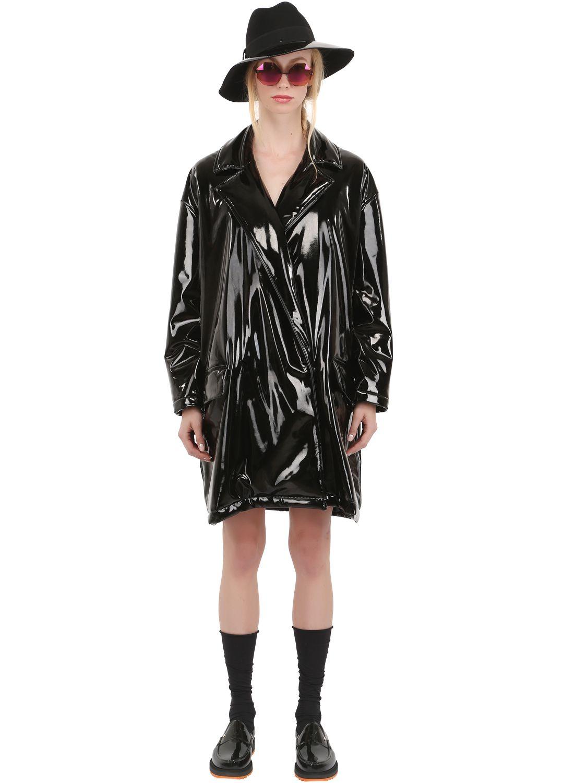 Lyst Wanda Nylon Isabelle Vinyl Jacket In Black