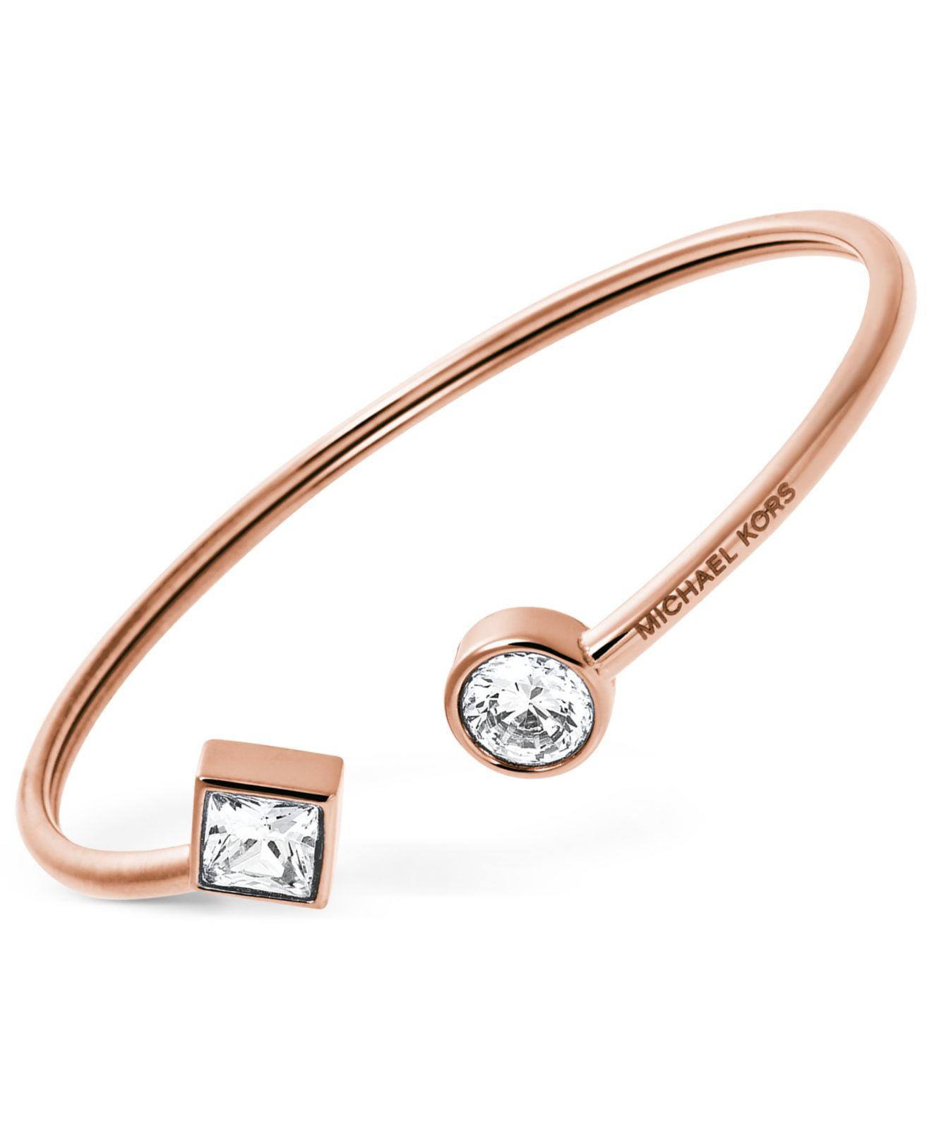 michael kors flexible open cuff bracelet in metallic lyst. Black Bedroom Furniture Sets. Home Design Ideas