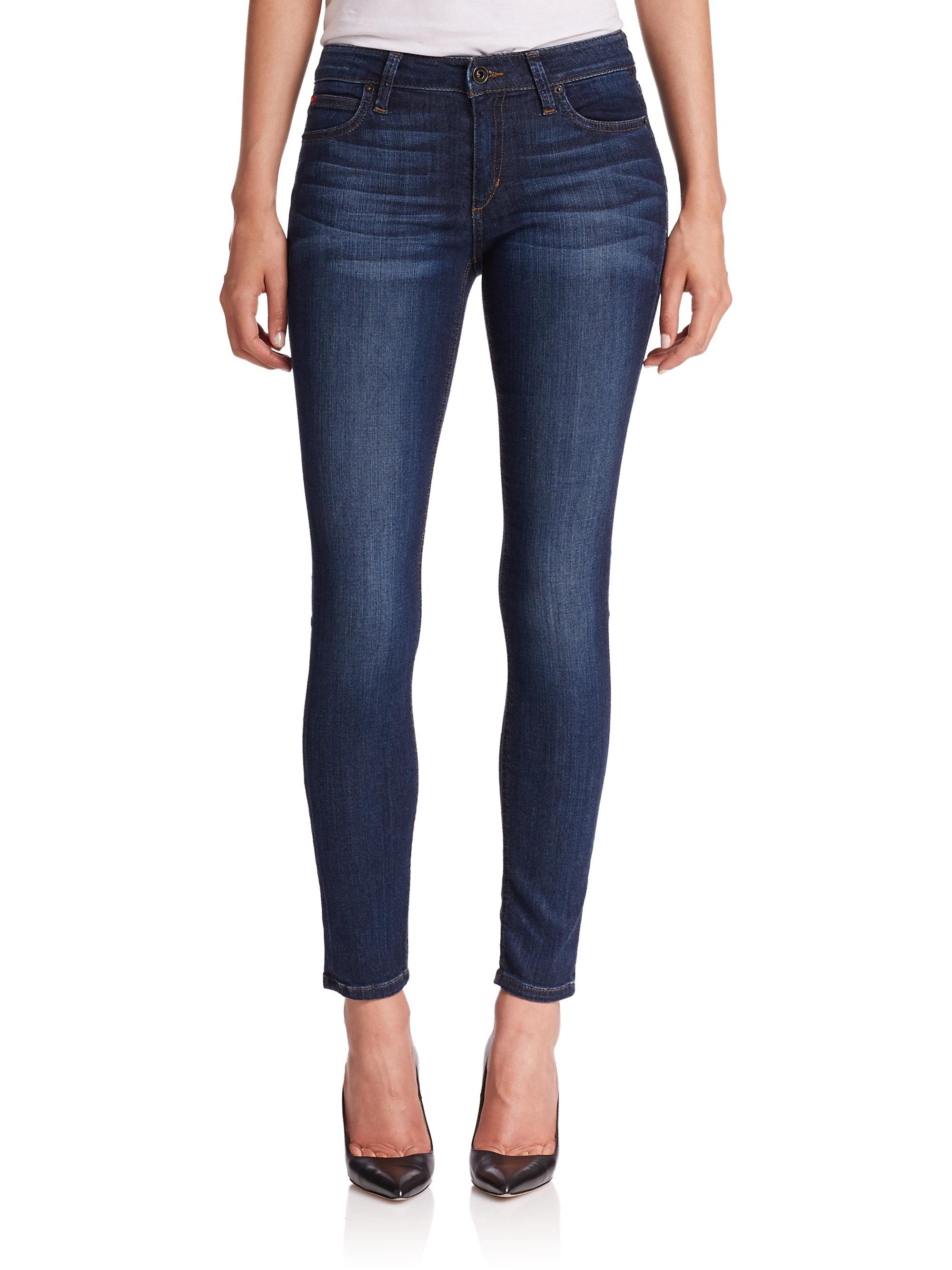 Burgundy Skinny Jeans Women