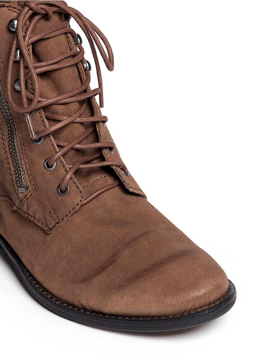 Lyst Sam Edelman Mackay Nubuck Leather Boots In Brown