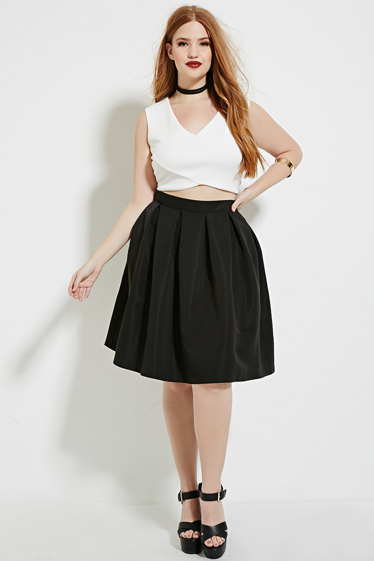 5ebd993d4b2 Lyst - Forever 21 Plus Size Pleated Skirt in Black