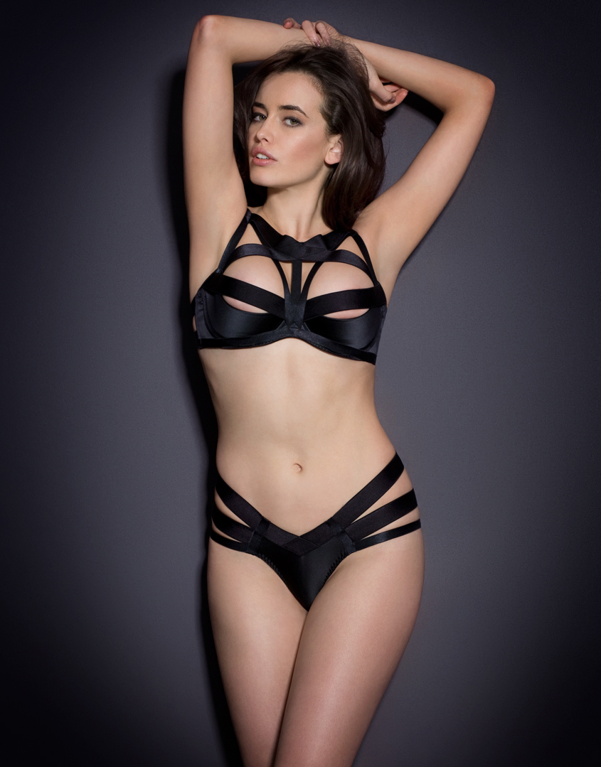 1b3880a6a27 Agent Provocateur Whitney Brief Black in Black - Lyst