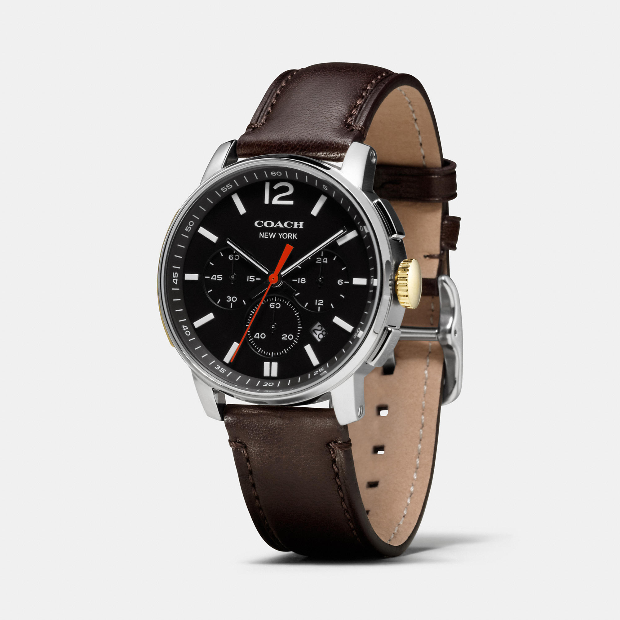 coach men watches best watchess 2017 coach bleecker chrono stainless steel strap watch in brown for men