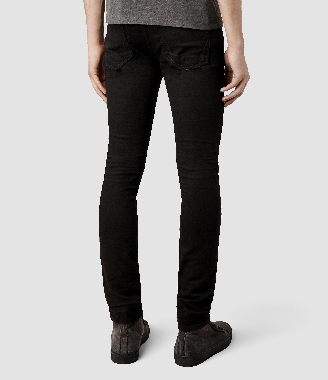 Allsaints Crow Cigarette Jeans Usa Usa in Black for Men | Lyst