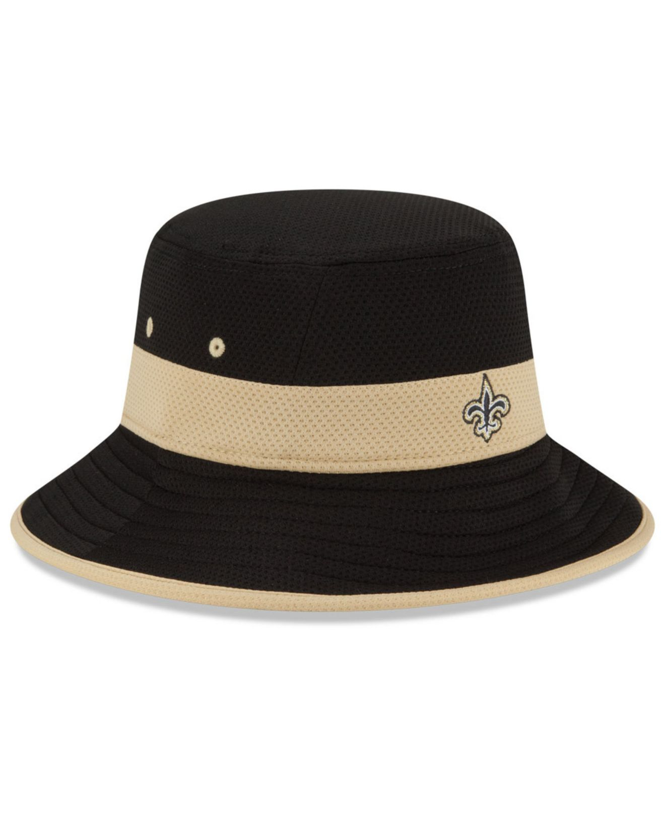 purchase cheap 52f0d 1458e KTZ New Orleans Saints Training Camp Reverse Bucket Hat in Black for ...