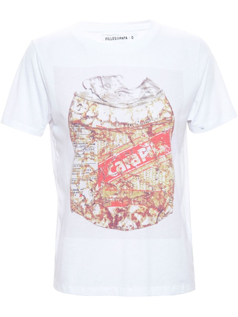 Filles a papa can print t shirt in white lyst for Where can i print t shirts