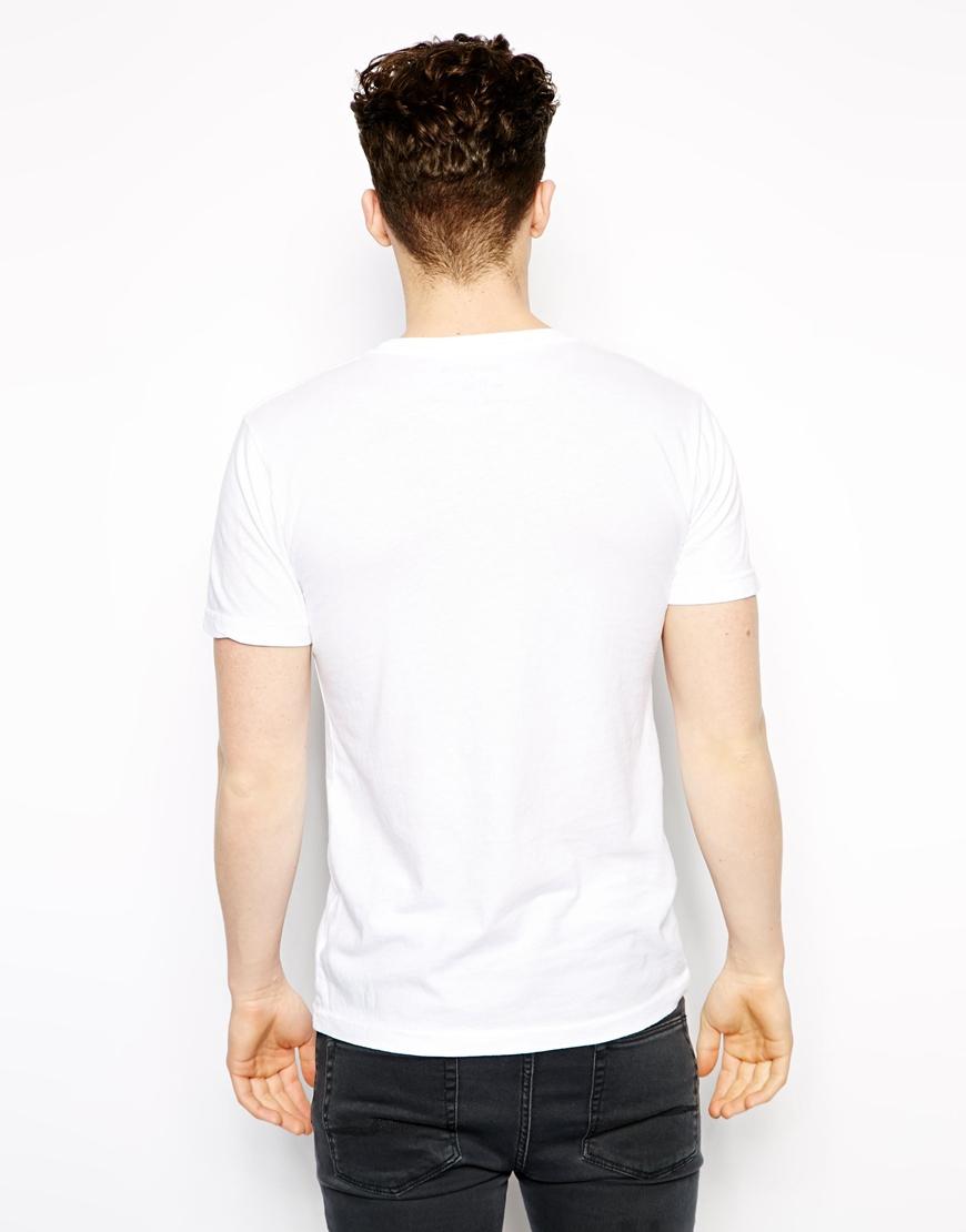 True Religion T Shirt Horseshoe Logo In White For Men Lyst