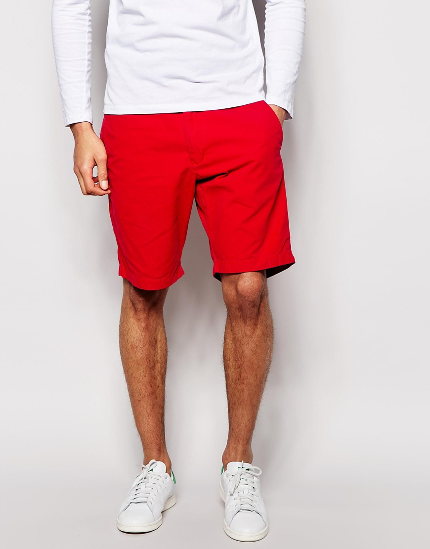 Tommy hilfiger Chino Shorts in Red for Men | Lyst