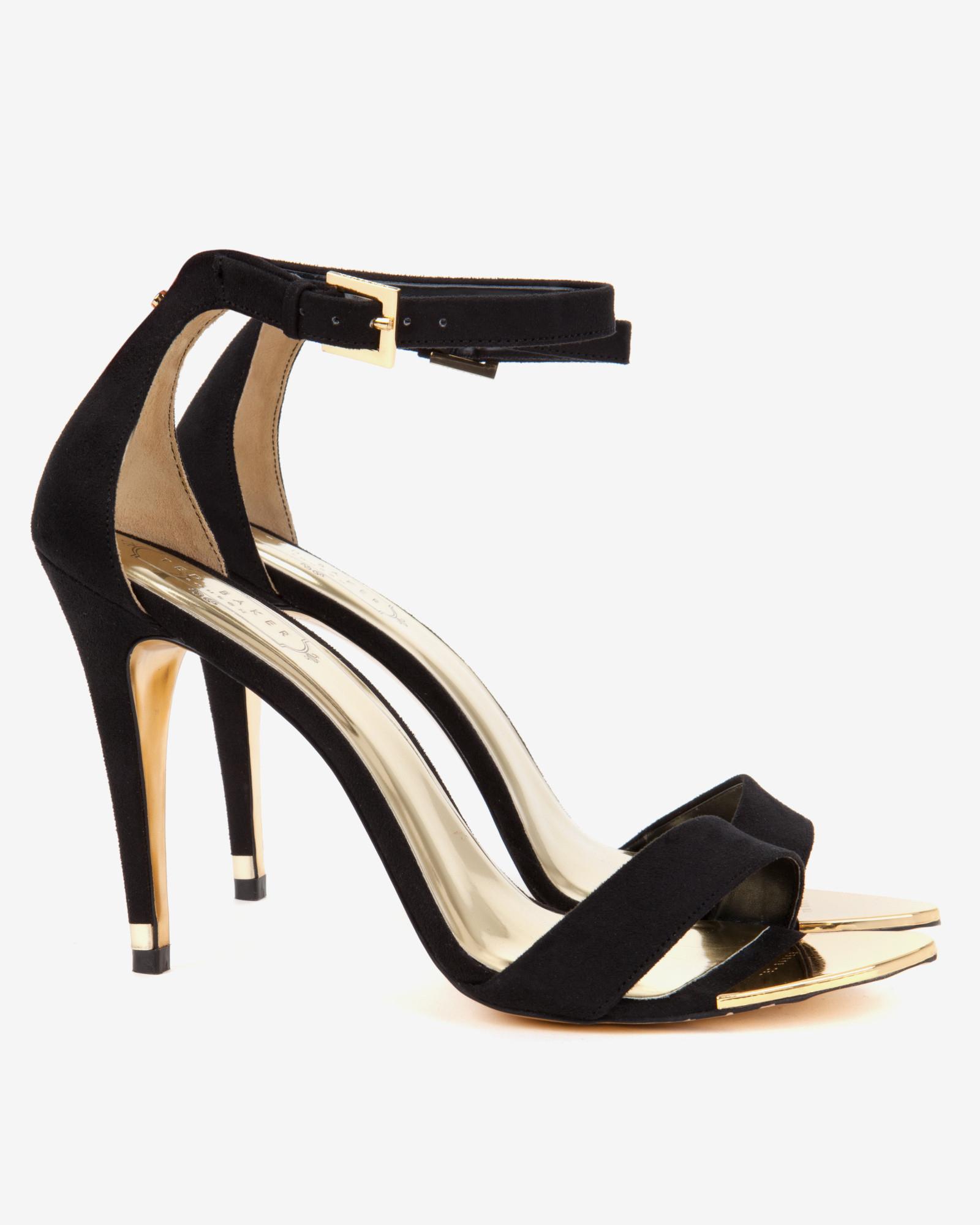 7d64287d91b Lyst - Ted Baker Ankle Strap Sandals in Black