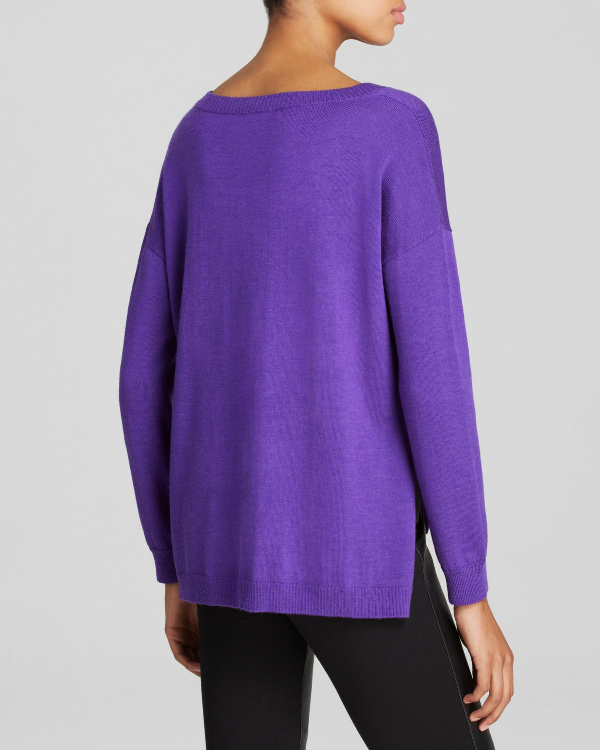 Eileen fisher Merino Wool Sweater in Purple | Lyst