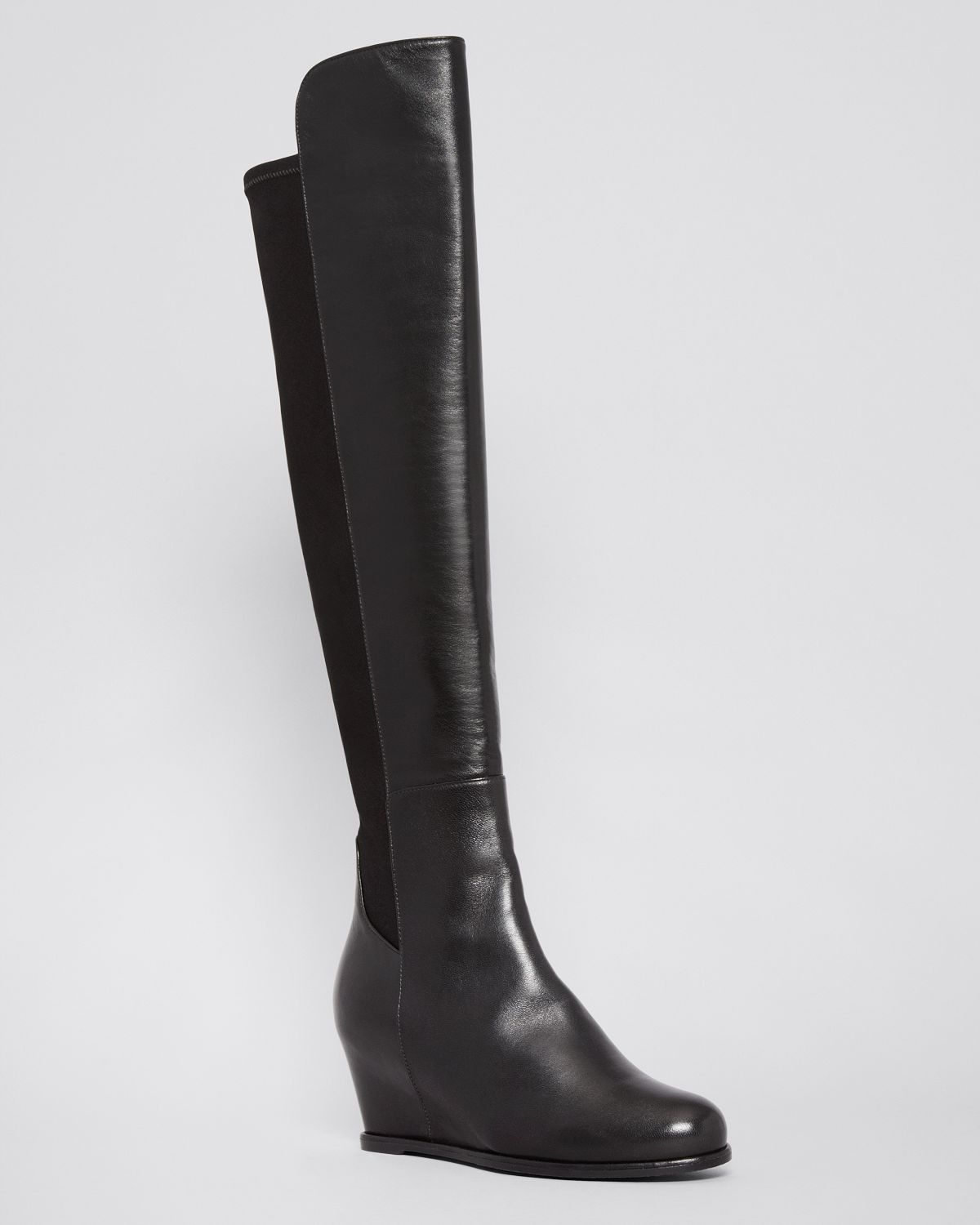 Stuart weitzman Over The Knee Wedge Boots - Semi in Black | Lyst