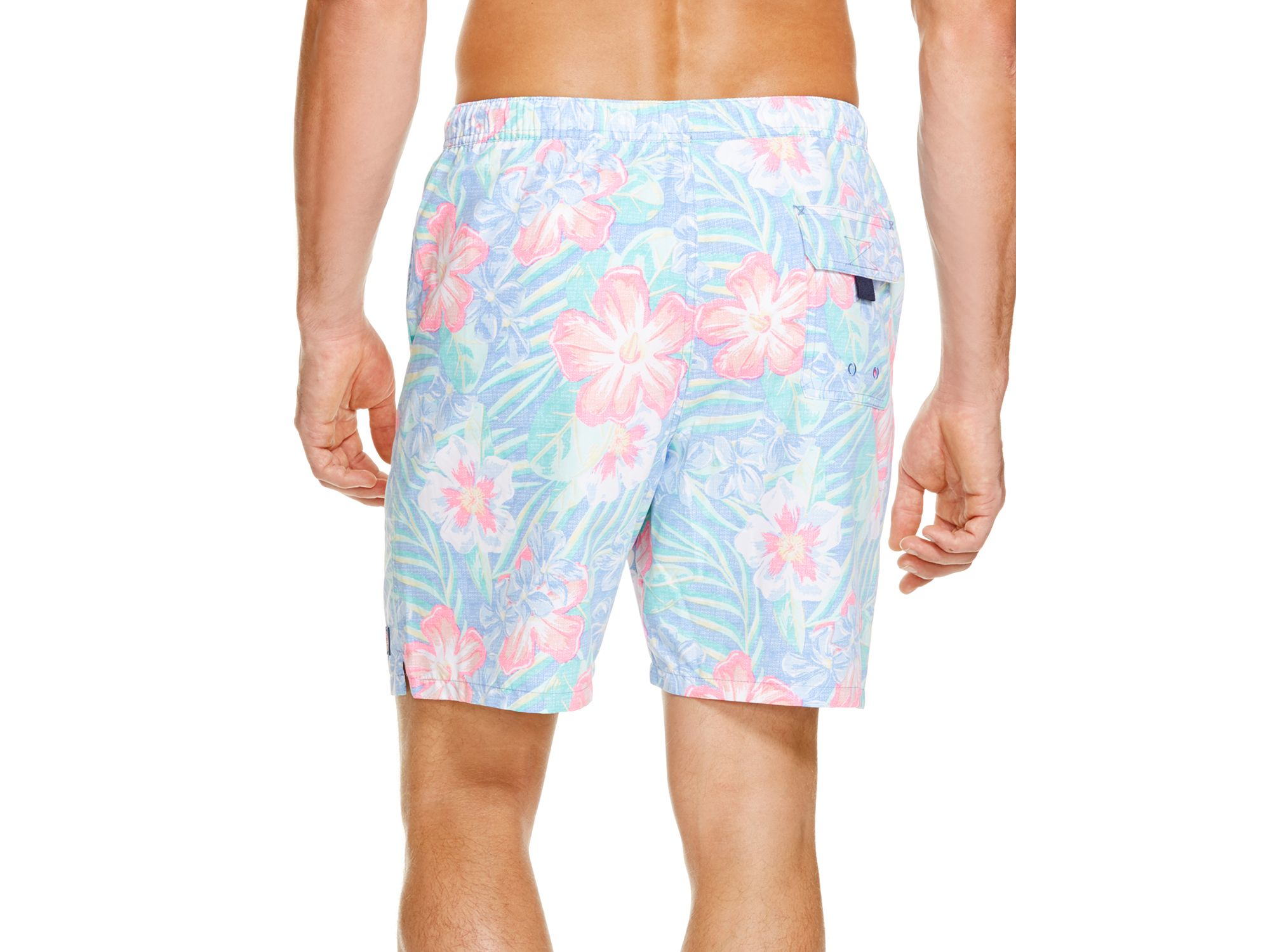 f074e64b7cb0a Vineyard Vines Island Floral Chappy Swim Trunks in Blue for Men - Lyst