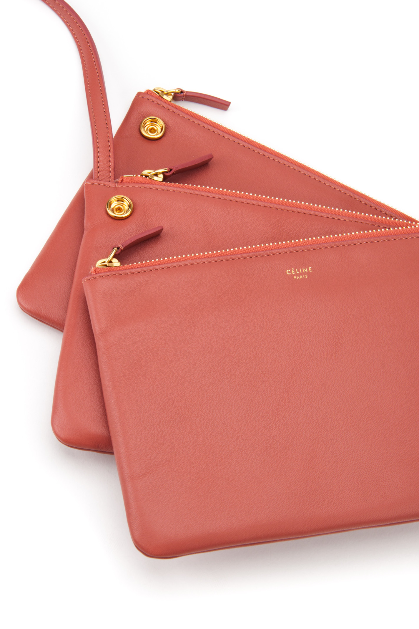 C¨¦line Borsa Trio Bag in Red (TERRACOTTA) | Lyst