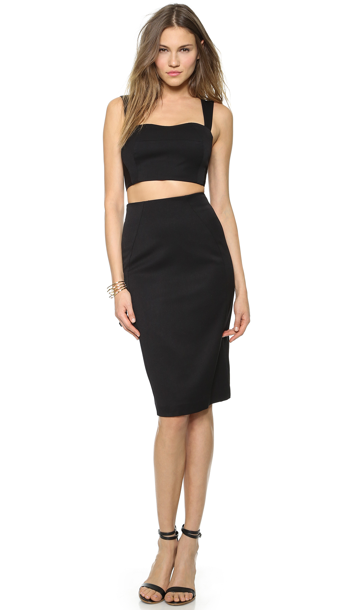 Black halo Kayley 2 Piece Dress Black in Black | Lyst