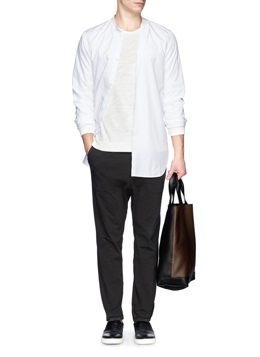 Rag bone raglan sleeve t shirt in white for men lyst for Rag and bone white t shirt