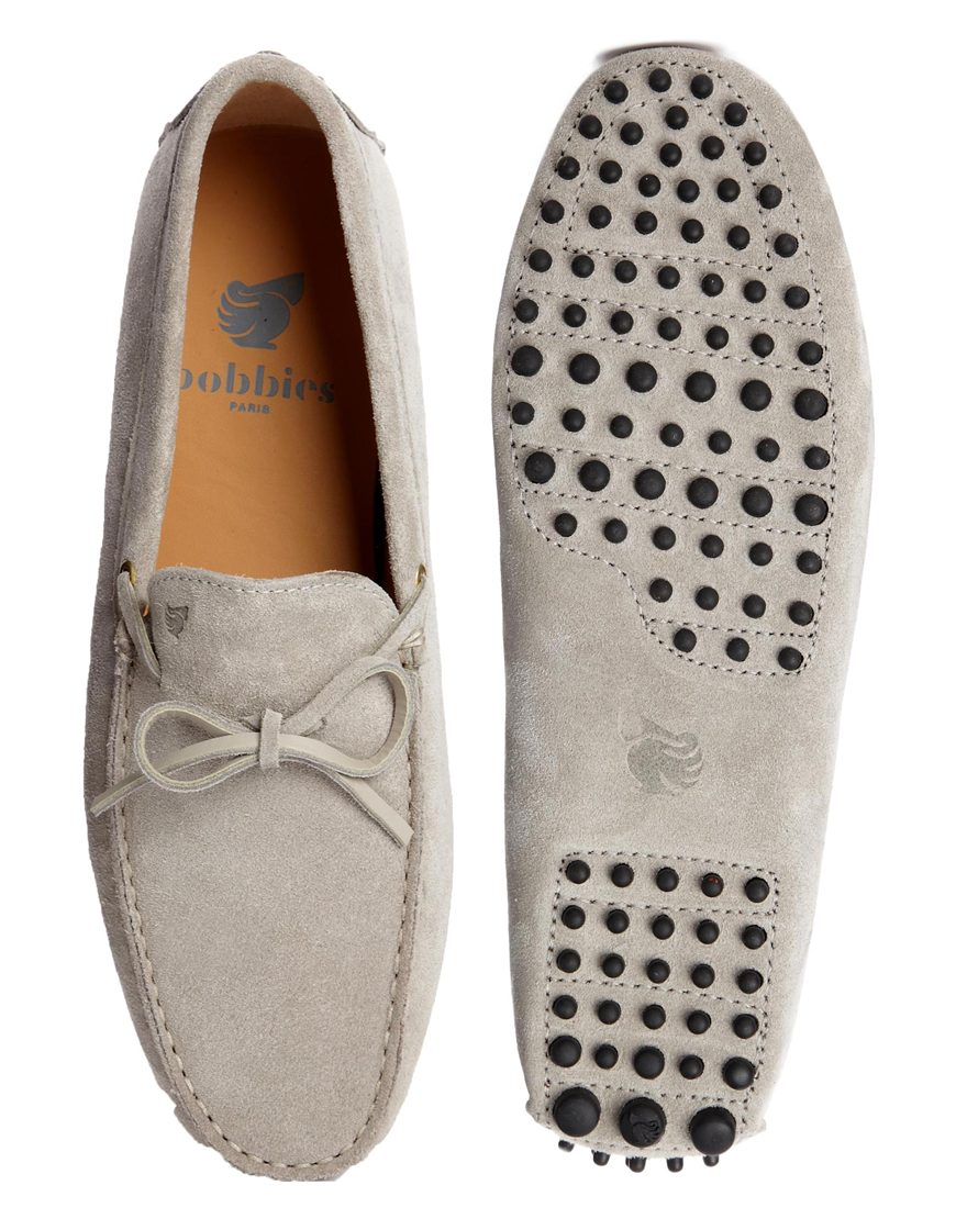5fa713f2b7c Lyst - Bobbies Le Magnifique Driving Shoes in Gray for Men