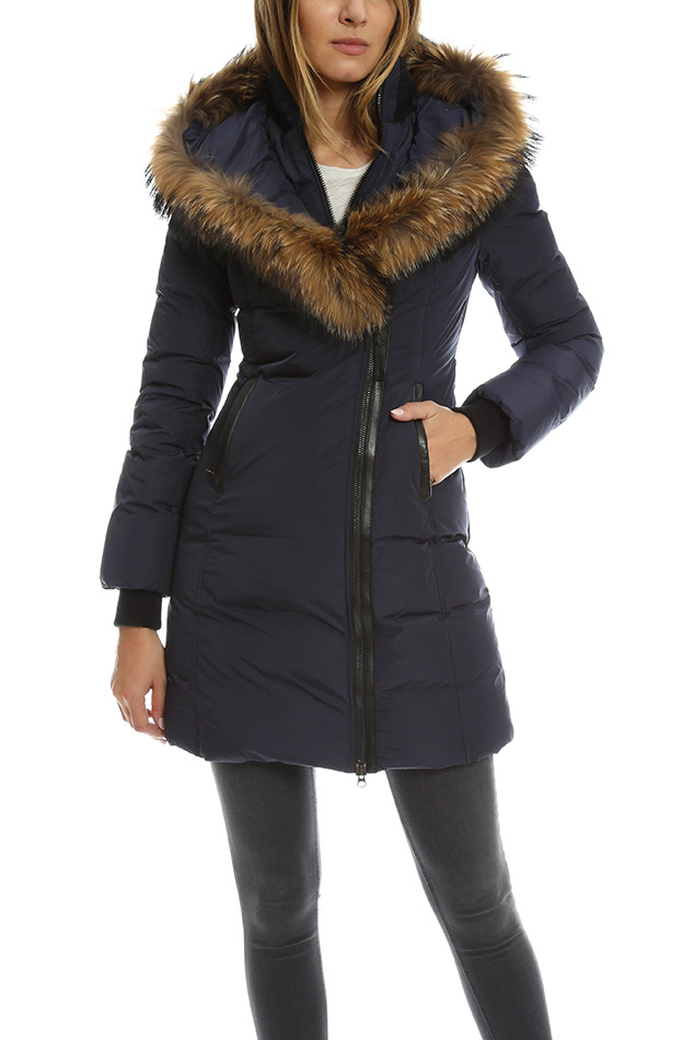 Lyst Mackage Kadalina Light Down Jacket With Fur Trimmed