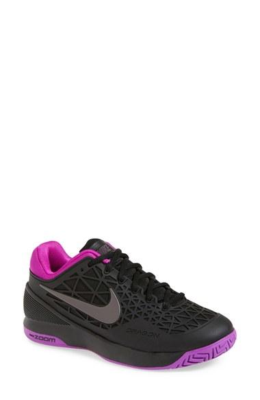 nike zoom cage 2 tennis shoe in black black midnight