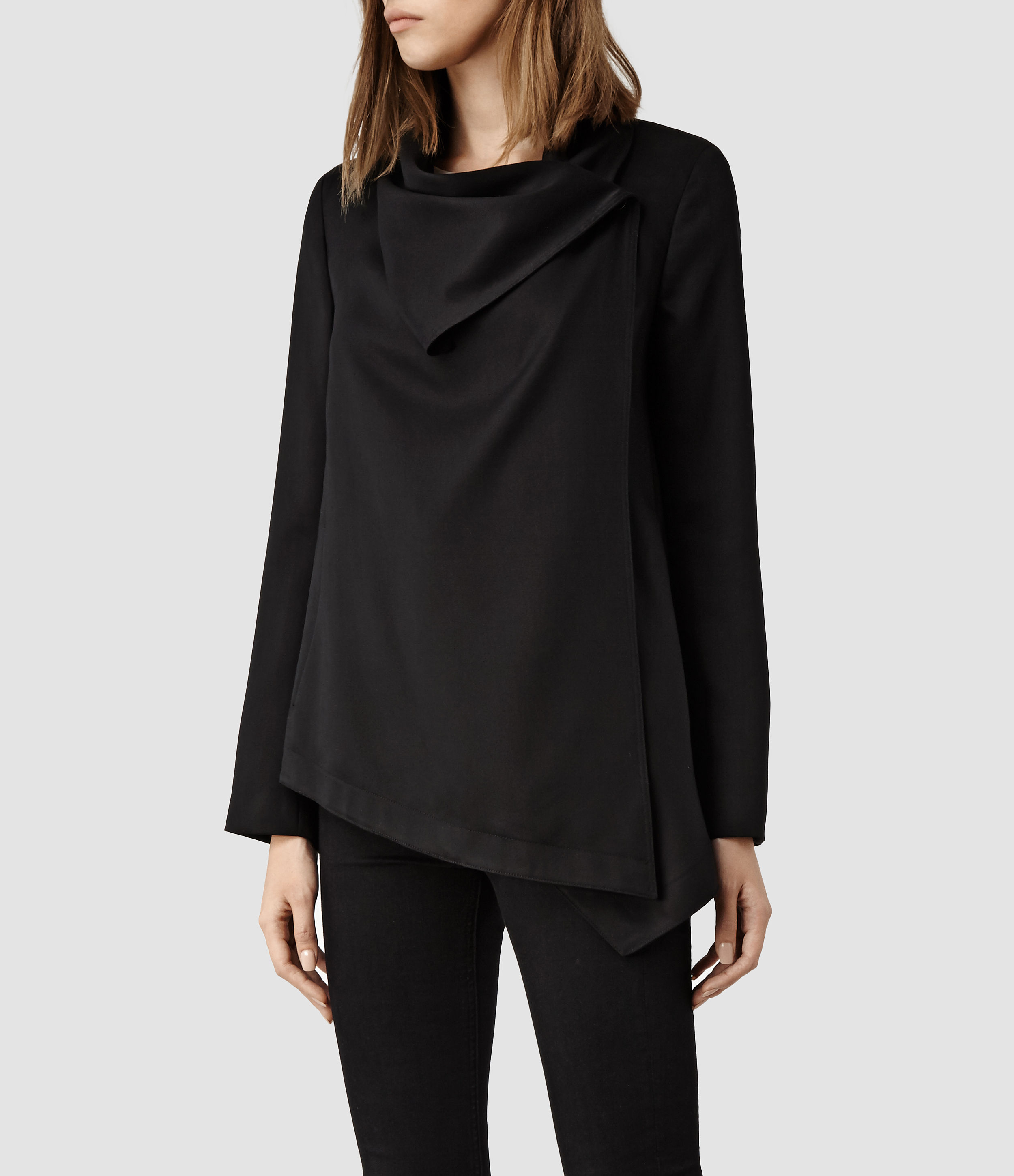 0540a417ad Lyst - AllSaints Aiko Monument Jacket in Black