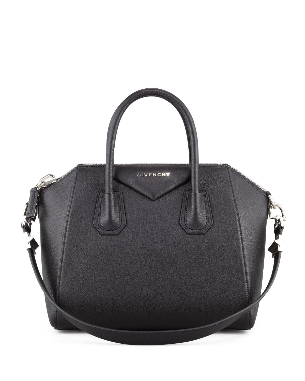 b1c171ec11 Lyst - Givenchy Antigona Small Sugar Goatskin Satchel Bag in Black