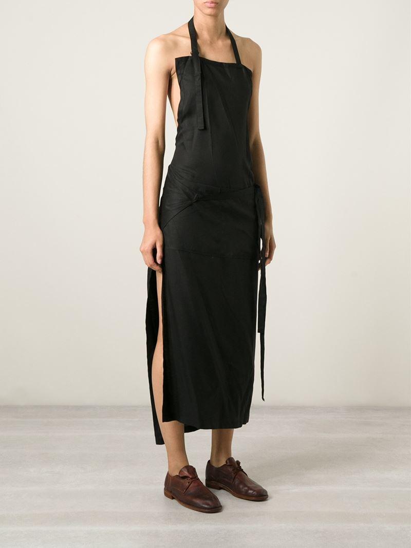 Yohji Yamamoto Apron Dress In Black Lyst