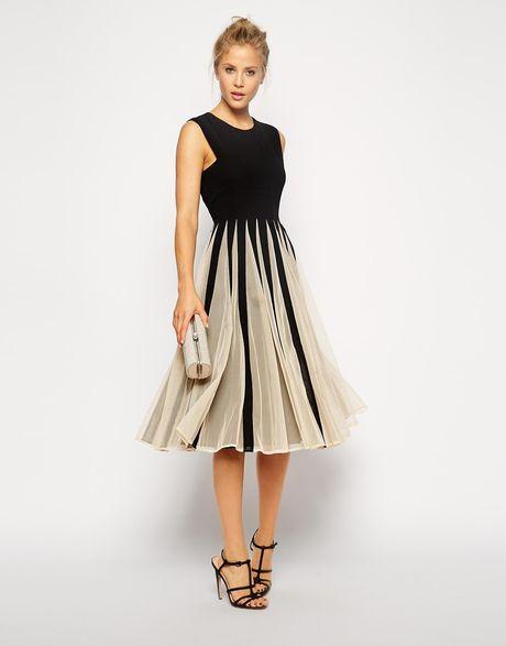 Galerry flared midi dress
