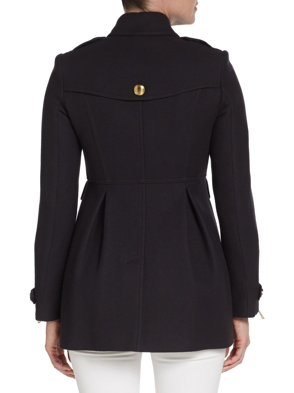 Burberry brit Ostford Wool Military Coat in Blue | Lyst