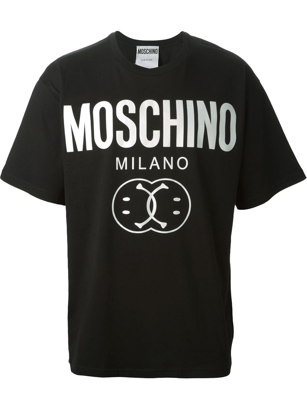 Lyst Moschino Smiley And Logo Print T Shirt In Black For Men