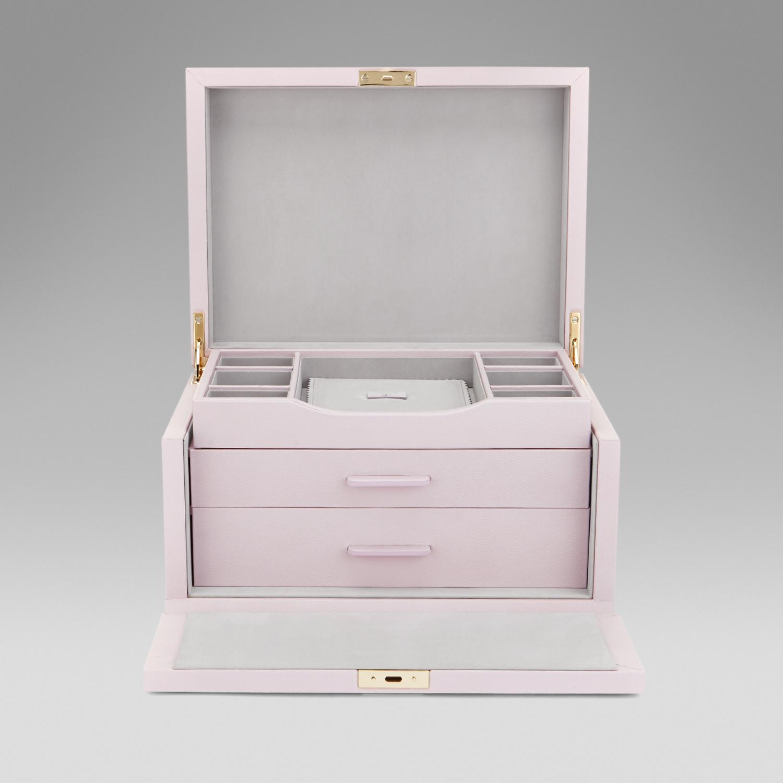 1b3140ae793a Smythson Three Drawer Jewellery Box in White - Lyst